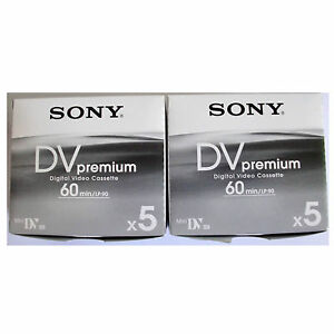 10-Sony-Mini-DV-MiniDV-60-90-min-minutes-premium-DVC-tapes-NEW-FreeShip-au