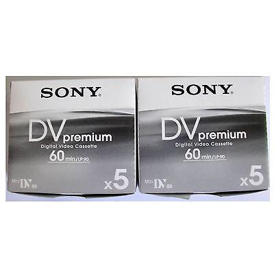 10 Sony Mini DV MiniDV 60/90 min minutes premium DVC tapes NEW FreeShip au