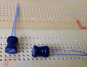 100uH-670mA-0-39-Ferrite-Leaded-Inductor-Open-Core-10-Tol-Murata-22R104C