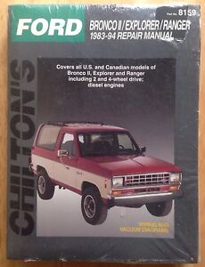1983 1984 1985 1986 1987 1993 1994 ford ranger explorer bronco ii rh ebay com 93 ford explorer repair manual 1993 ford explorer repair manual