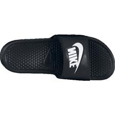 pretty nice 5aaa4 83c7f Mens 9 Nike Benassi JDI Slides Sandals Slip Ons Black White 343880 Revise