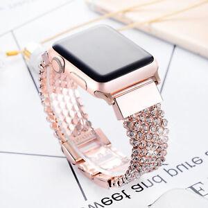 Wristwatch Bands Beautiful Crystal Rhinestone Diamonds Wristwatch Bands Metal Strap For Apple Watch 4 3 2 1