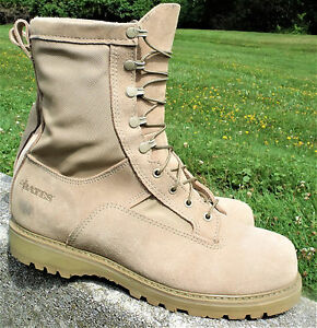 6017cd3c07e Details about BATES Military Army Boots Desert 3Layer Temperate Weather GI  GORETEX 12 W Wide