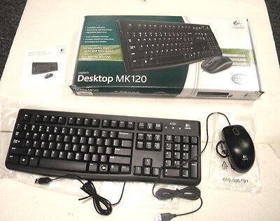 new logitech mk120 usb keyboard and optical mouse bundle 97855065476 ebay. Black Bedroom Furniture Sets. Home Design Ideas