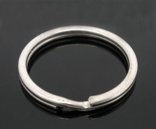 Großverkauf Silberfarbe Schlüsselring Binderinge Schlüsselzubehör 25x1.7mm