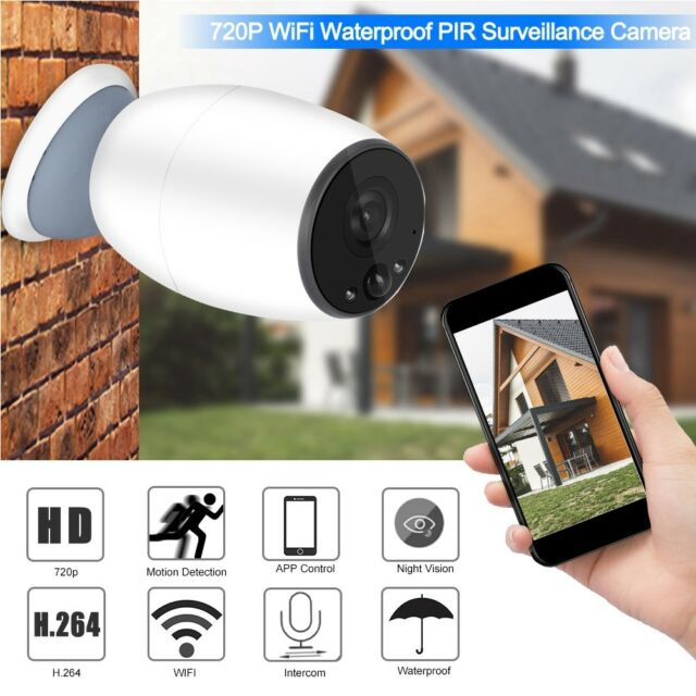 Battery Powered WiFi Wireless Security IP Camera Home Outdoor Surveillance  Cam
