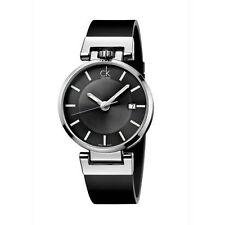 Calvin Klein Men's CK Worldly Dress Watch in Black Leather Strap, K4A211C3