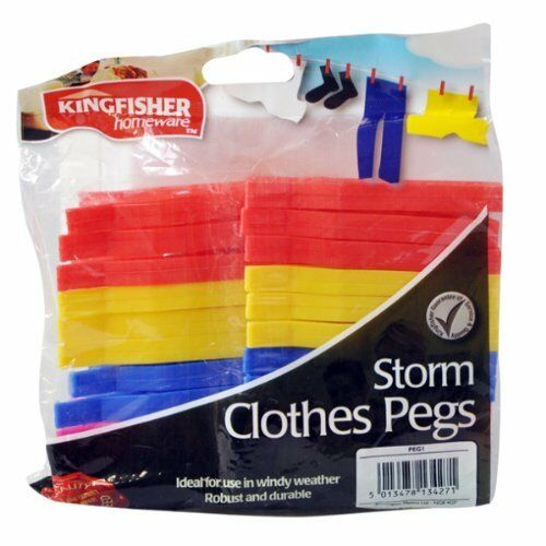 KINGFISHER  24PK STORM CLOTHES PEGS DURABLE BIG SALE