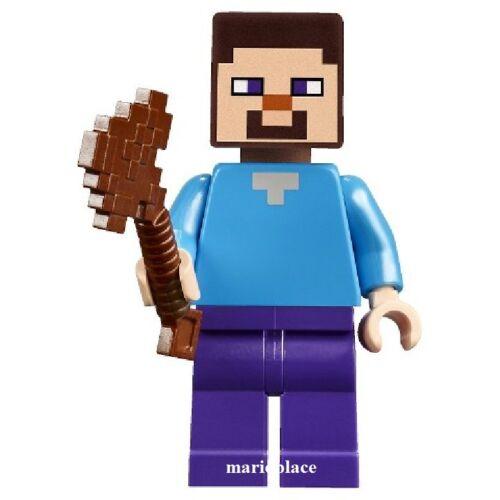 LEGO Minecraft 21115 The First Night STEVE w/ Axe Minifigure  Animal Villain NEW