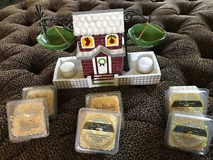 Yankee-Candle-Rare-Double-Tart-warmer-Christmas-House-With-Soy-Beads-Hg11