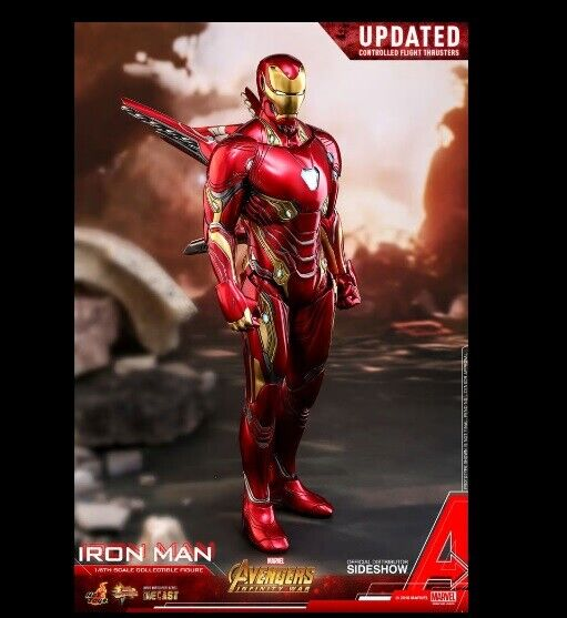 1 6 Serie Iron Man Diecast Movie Masterpiece Hot Juguetes 903421