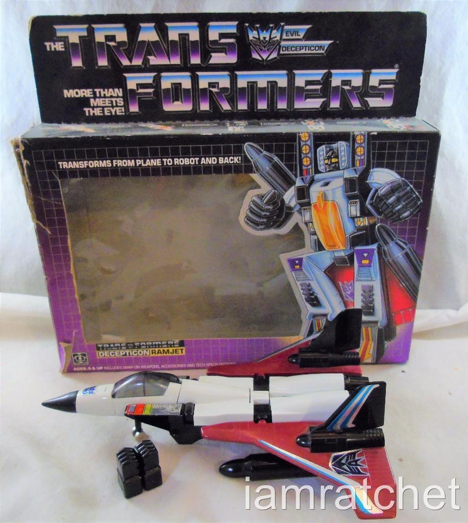 Transformers Original G1 1985 Seeker Jet Ramjet Complete w  Box