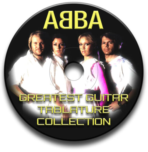 ABBA POP ROCK GUITAR TAB TABLATURE SONG BOOK ANTHOLOGY SOFTWARE CD
