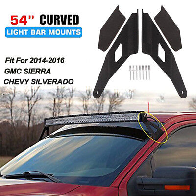 Roof Top Mounting Brackets Fit For 14-16 Chevy GMC 54 Inch Curved LED Light Bar