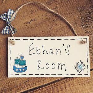 boat name plaque door nursery bedroom sign gift baby boys