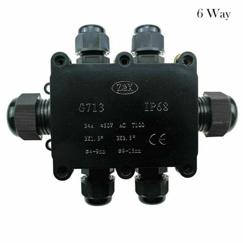 Waterproof Junction Box Case Electrical Cable Connector Outdoor IP68 Underground