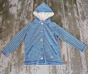 JOULES-Long-Sleeve-White-Blue-Striped-Barlow-Jacket-Coat-sweatshirt-Hoodie-Siz-8