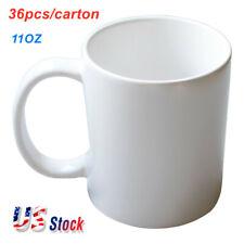 Usa 36pcs Blank White Mugs A Grade 11oz Sublimation Coated Mugs For Heat Press