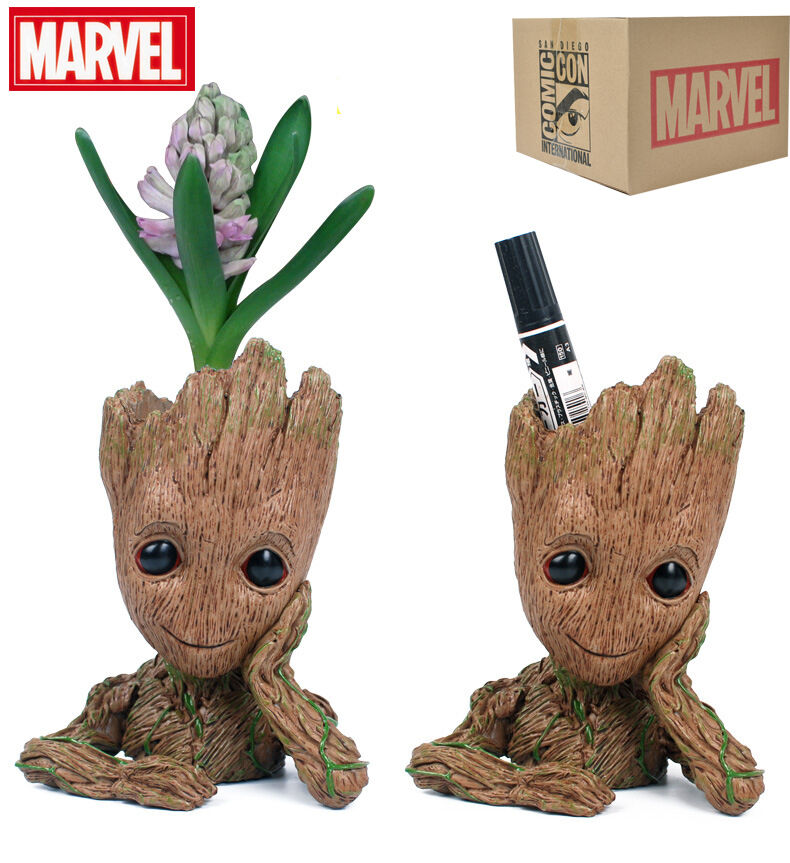 Marvel Guardians of the Galaxy 2 Groot Model Action Figures Doll Pencil Vase Toy