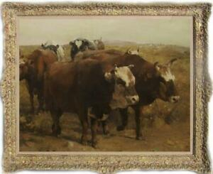 """Hand-painted Old Master-Art Antique Oil Painting Portrait cow on canvas 30X40"""""""