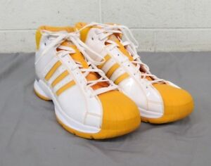 Adidas Pro Model G07694 Gold   White Basketball Shoes Men s 18 EU 53 ... 48aab4901