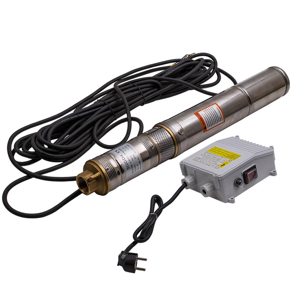 3  Elettropompa Sommersa Pompa Profonda 230V, 370W Acciaio Inossidabile 1800 L h