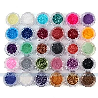 30 Colors Makeup Loose Powder Glitter Eyeshadow Eye Shadow Face Body Cosmetic