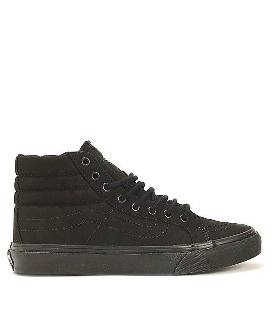 3382813c33 New Vans Vans Vans Sk8-Hi Slim Black Shoes Women s Sz 5.5 7c4735 ...