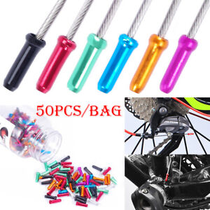50* New Aluminum Bike//Bicycle Brake Shifter Inner Cable Tips Wire End Cap Crimps