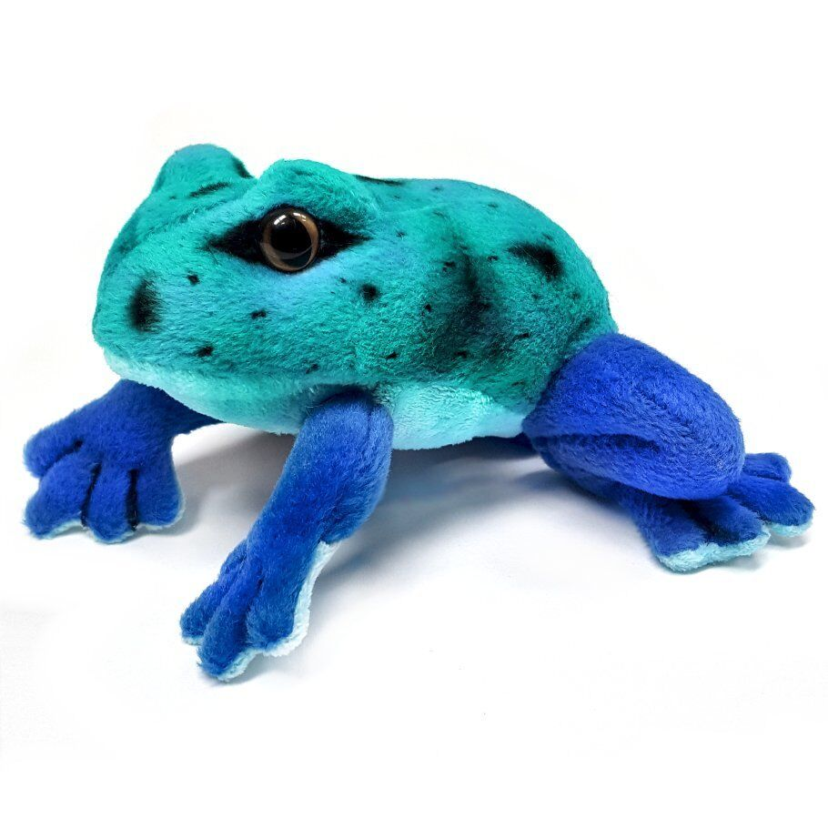 30 x 13cm bluee Frog Soft Toy - Ages 0+ - Surface Washable