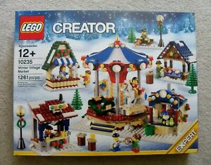 LEGO-Holiday-Christmas-Rare-10235-Winter-Village-Market-New-w-box-wear