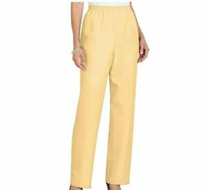 Alfred Dunner Women/'s Solid Pull On Pants Proportioned Medium