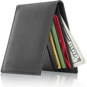 Brand-New-Leather-Slim-Wallet-For-Men-Bifold-Wallet-With-ID-Window-RFID-Blocking