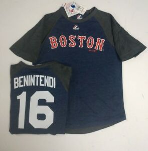 ANDREW BENINTENDI BOSTON RED SOX YOUTH JERSEY SHIRT MAJESTIC PICK ... ecdcbe271eabd