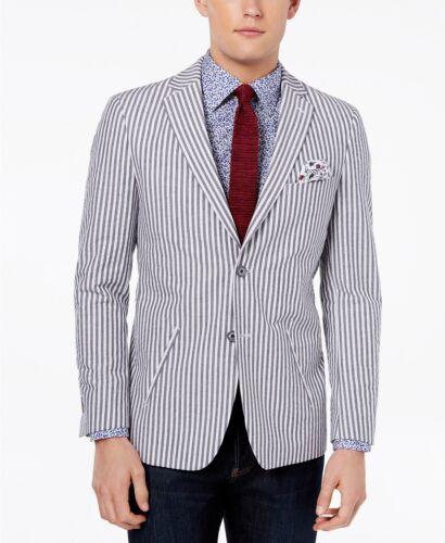 VYCO1THY0116 Tallia Orange Mens Navy//White Slim Fit Two Button Blazer