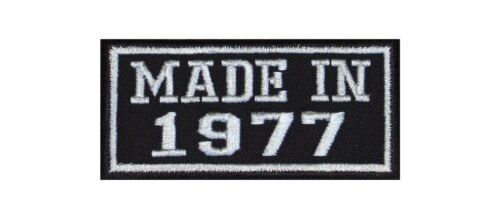 Made in 1977 Biker Patches Aufnäher MC Motorrad Jahreszahl Birth Since Seit Year