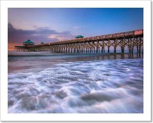 Details about The Fishing Pier At Sunrise, In Folly Art Print Home Decor  Wall Art Poster - C