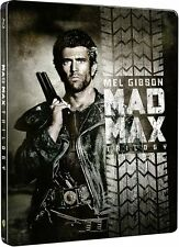 MAD MAX 1 2 3 TRILOGIE 1-3 MEL GIBSON LIMITED STEELBOOK EDITION BLU RAY UNCUT