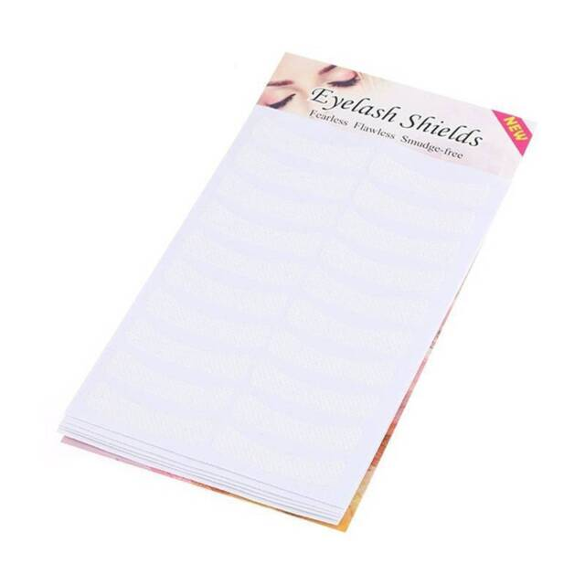 100 Pcs White Eyelash Extension Fabrics Pads Stickers Patches Adhesive Tape-/