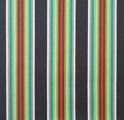 By 1//2 Yard ~ Free Spirit Tula Pink Fabric Chipper ~ Tick Tock Stripe Mint green