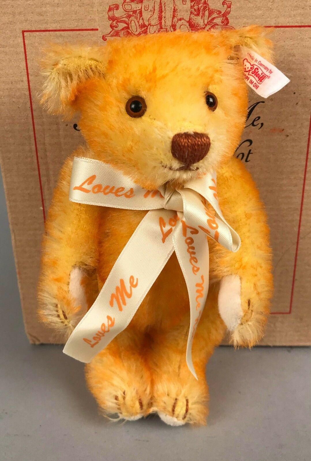Vintage Steiff Teddy Bear - Mini Loves Me Not 666780 2002 6  LE 304/2002 COA NIB