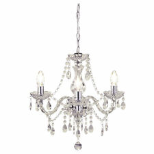 Shabby chic 3 luci montaggio soffitto Lampadario CLEAR CRYSTAL BEADS Marie Therese