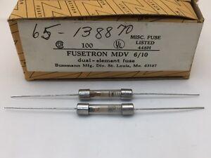 10 pcs Glass Fuse MTH-5  Bussmann Size: 3AG Slow Blow 5A  250vac