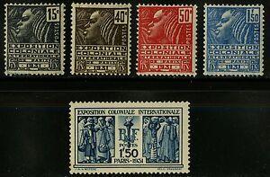 France   1930-31   Scott # 258-262   Mint Lightly Hinged Set