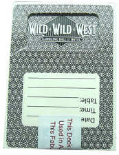 WILD WILD WEST 4 Pqtes /Mazos Cartas Jugar Póquer Baraja Casino Poker Las Vegas