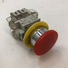 Lay3 11zs Red Cap 1no 1nc Emergency Stop Push Button Switch 22mm Mounting Hole