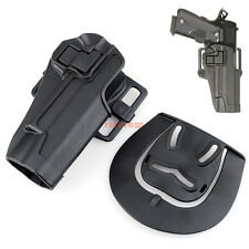 Tactical Quick Holster Right Hand Paddle w/ Belt Holster for Pistol Colt 1911
