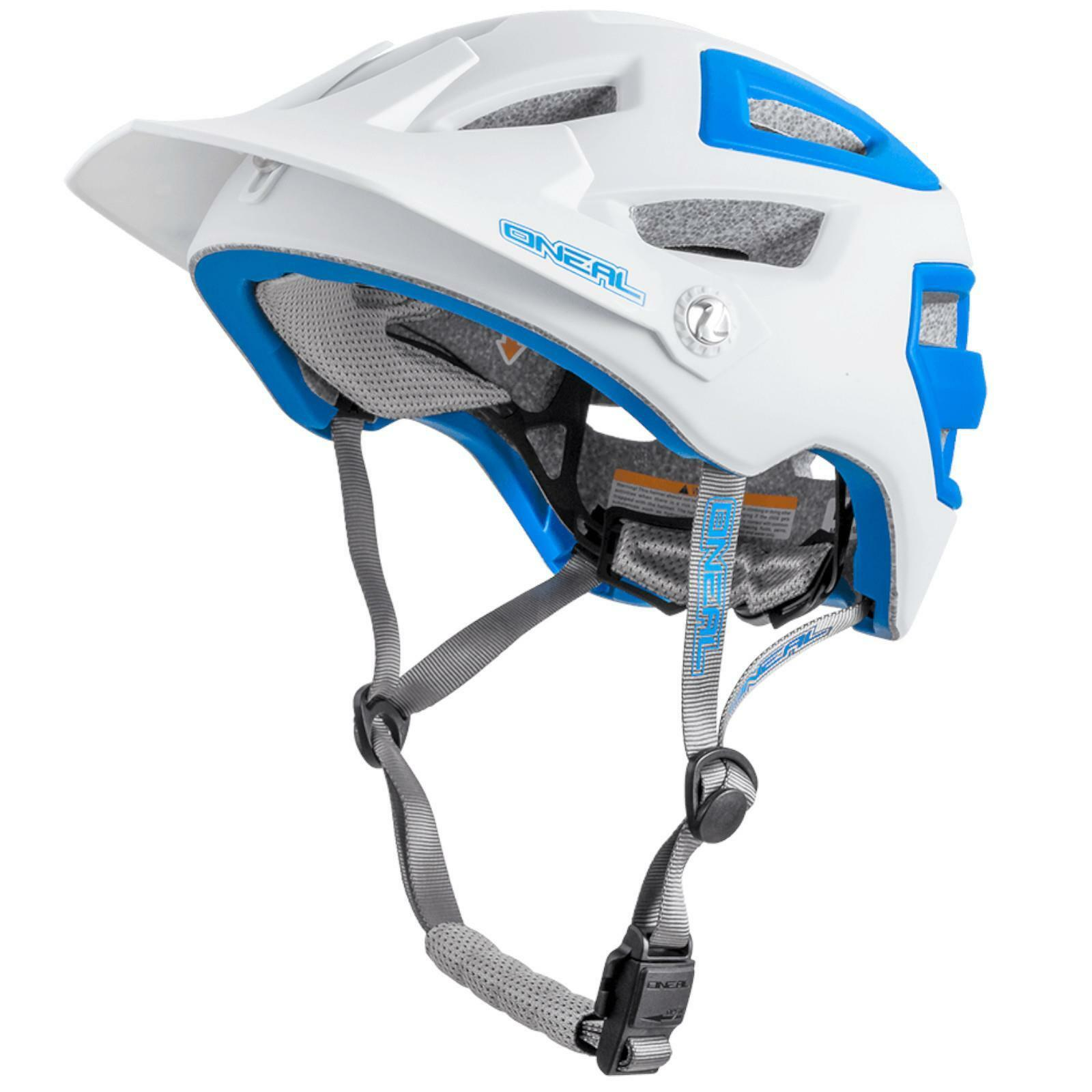 O'Neal Pike Enduro Helmet Matt White bluee All Mountain FR MTB BMX AM Bicycle EPS