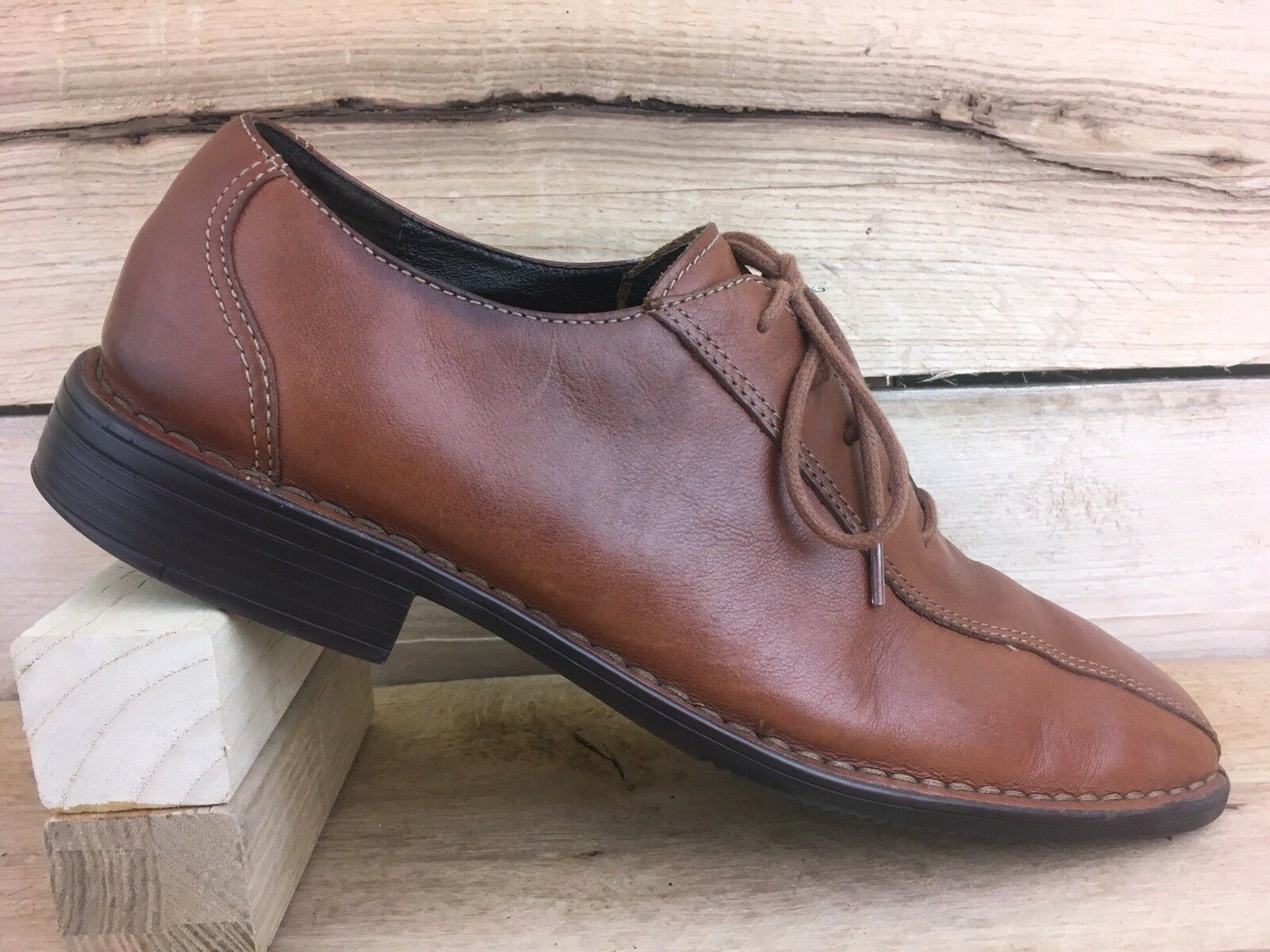 Rockport Mens shoes Size 10.5 M Brown Leather Oxfords APM1136G Bicycle Toe