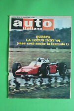 AUTO ITALIANA 16/1969 LOTUS RALLY DEL SESTRIERE FORMULA 5000 MOTO HONDA CB 750